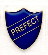 Shield Trophy Award Badge Prefect Blue (New 2010)