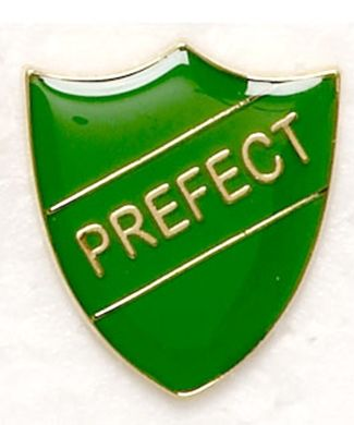 Shield Trophy Award Badge Prefect Green (New 2010)
