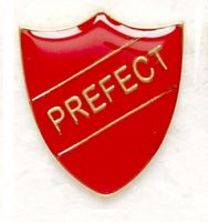 Shield Trophy Award Badge Prefect Red (New 2010)