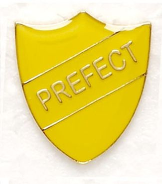 Shield Trophy Award Badge Prefect Yellow (New 2010)