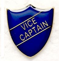 Shield Trophy Award Badge Vice Captain Blue (New 2010)
