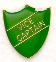 Shield Trophy Award Badge Vice Captain Green (New 2010)