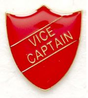Shield Trophy Award Badge Vice Captain Red (New 2010)