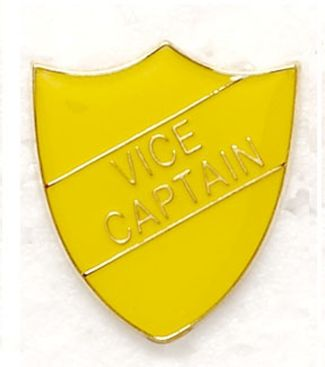 Shield Trophy Award Badge Vice Captain Yellow (New 2010)
