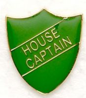Shield Trophy Award Badge House Captain Green (New 2010)
