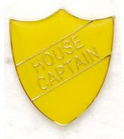 Shield Trophy Award Badge House Captain Yellow