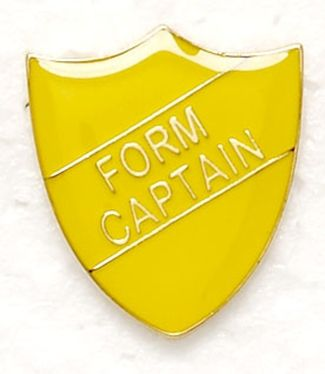 Shield Trophy Award Badge Form Captain Yellow (New 2010)