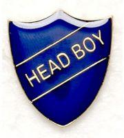 Shield Trophy Award Badge Head Boy Blue (New 2010)