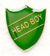 Shield Trophy Award Badge Head Boy Green (New 2010)