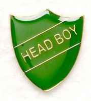 Shield Trophy Award Badge Head Boy Green (New 2010)