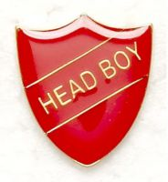 Shield Trophy Award Badge Head Boy Red (New 2010)