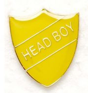 Shield Trophy Award Badge Head Boy Yellow (New 2010)