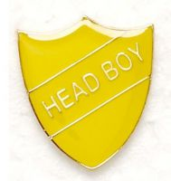 Shield Trophy Award Badge Head Boy Yellow (New 2010)