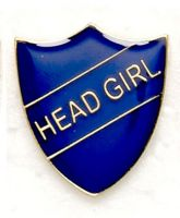 Shield Trophy Award Badge Head Girl Blue (New 2010)