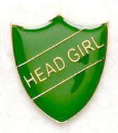 Shield Trophy Award Badge Head Girl Green (New 2010)