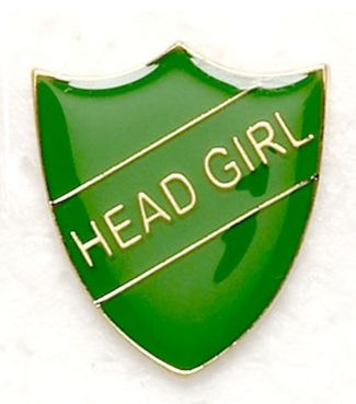 Shield Trophy Award Badge Head Girl Green (New 2010)
