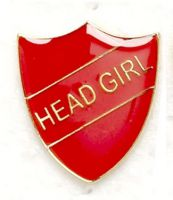 Shield Trophy Award Badge Head Girl Red (New 2010)