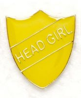 Shield Trophy Award Badge Head Girl Yellow (New 2010)