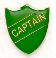 Shield Trophy Award Badge Captain Green (New 2010)
