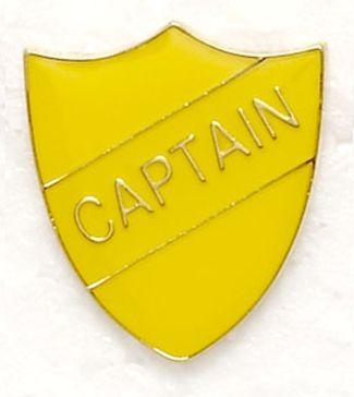 Shield Trophy Award Badge Captain Yellow (New 2010)