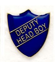 Shield Trophy Award Badge Deputy Head Boy Blue