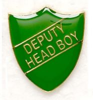 Shield Trophy Award Badge Deputy Head Boy Green