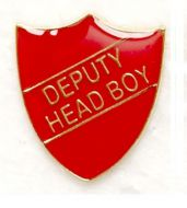 Shield Trophy Award Badge Deputy Head Boy Red (New 2010)