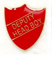 Shield Trophy Award Badge Deputy Head Boy Red (New 2010)