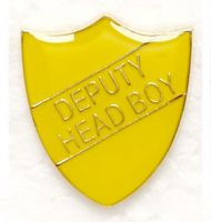 Shield Trophy Award Badge Deputy Head Boy Yellow