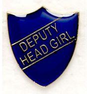 Shield Trophy Award Badge Deputy Head Girl Blue