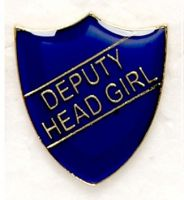 Shield Trophy Award Badge Deputy Head Girl Blue
