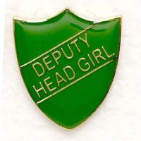 Shield Trophy Award Badge Deputy Head Girl Green