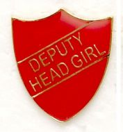Shield Trophy Award Badge Deputy Head Girl Red