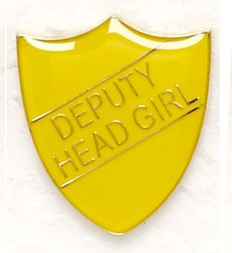 Shield Trophy Award Badge Deputy Head Girl Yellow