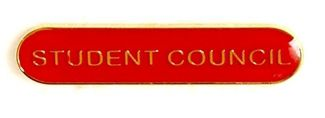 Bar Badge Student Council Red (New 2010)