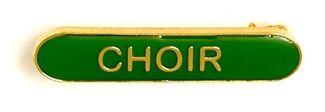 Bar Badge Choir Green (New 2010)