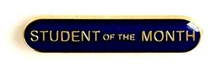 Bar Badge Student Of The Month Blue