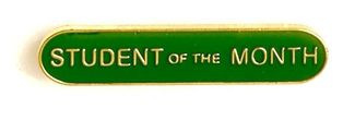 Bar Badge Student Of The Month Green