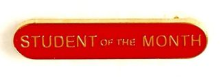 Bar Badge Student Of The Month Red