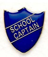 Shield Trophy Award Badge School Captain Blue (New 2010)