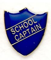Shield Trophy Award Badge School Captain Blue (New 2010)