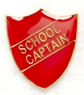 Shield Trophy Award Badge School Captain Red (New 2010)