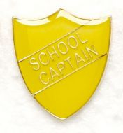Shield Trophy Award Badge School Captain Yellow