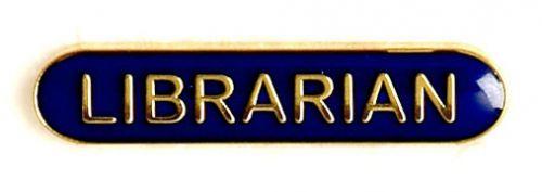 Bar Badge Librarian Blue (New 2010)