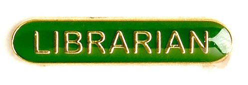 Bar Badge Librarian Green (New 2010)