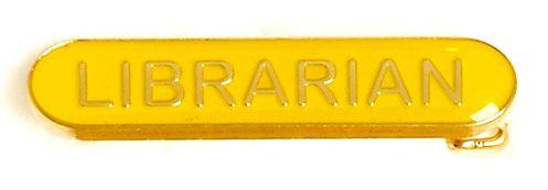 Bar Badge Librarian Yellow (New 2010)