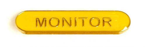 Bar Badge Monitor Yellow (New 2010)