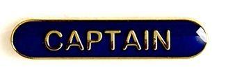 Bar Badge Captain Blue