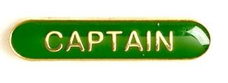 Bar Badge Captain Green (New 2010)