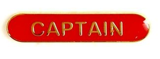 Bar Badge Captain Red (New 2010)